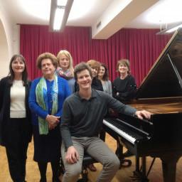 Klavirski recital nekdanjega učenca naše šole, Urbana Staniča, 4. 4. 2018