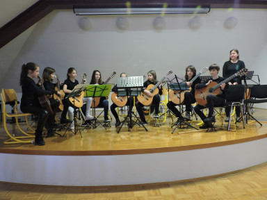 Nastop orkestrov GŠ Tolmin na intenzivnih vajah