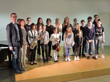 Srečanje učencev Glasbene matice Špeter in Glasbene šole Tolmin