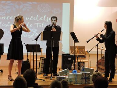 Nika Hribar, flavta, Stojan Milinković, klarinet in Ana Aouza Leban, oboa
