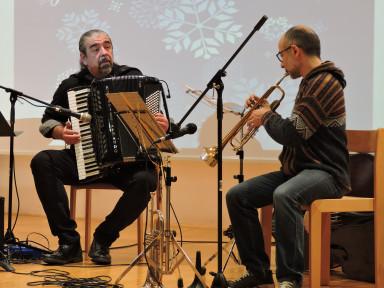 Andrea Pandolfo, trobenta, Aleksander Ipavec, harmonika