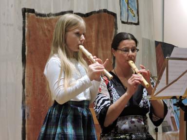 Za konec smo prisluhnili še duetu kljunastih flavtic.