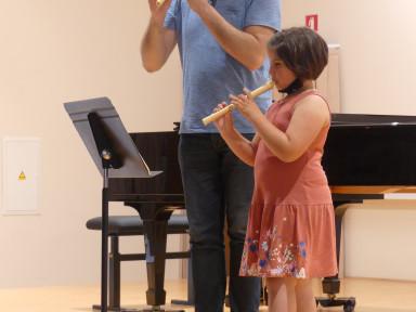 Razredni nastop učencev kljunaste flavte, saksofona in klarineta