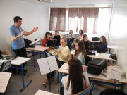 Intenzivne vaje orkestrov GŠ Tolmin, 1.dan