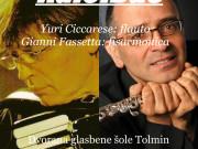 Koncert Yuri Ciccarese, flavta, Gianni Fassetta, harmonika