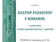 Nastop pianistov v KOBARIDU